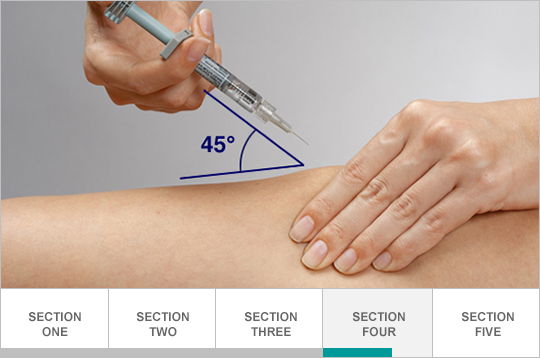 Pinch injection site