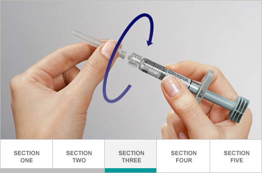 Attach 27-gauge needle to syringe