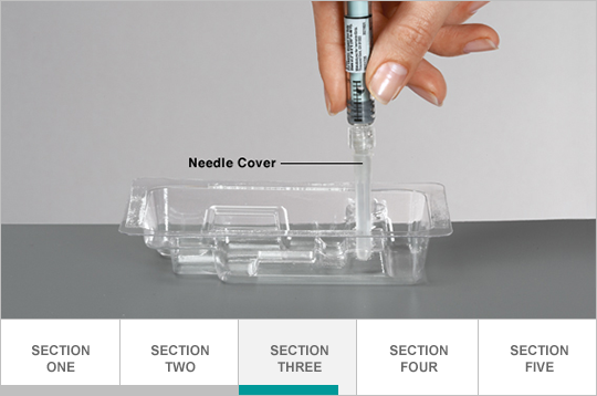 Remove syringe and needle from vial