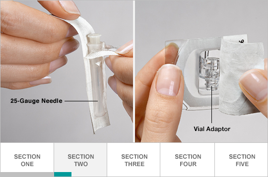 Open needle and adapter packages
