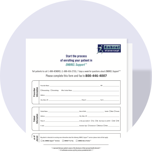 ENBREL Support Patient Enrollment Form